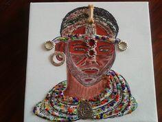 masai:acrylique et collage