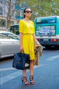 i'm always obsessed with a great yellow dress