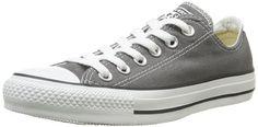 Converse All Star hi 015760_Anthracite – Zapatillas de tela para niños, color gris, talla 34