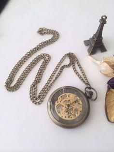 Steampunk Mechanical Pocket Watch  groomsmen by Victorianstudio, $39.98