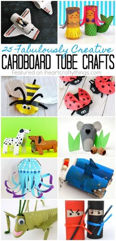 25 Fabulously Creative Cardboard Tube Crafts | I Heart Crafty Things #ad