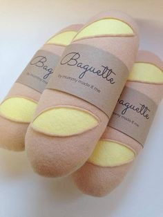 Felt Pretend Play Food Baguette / Roll / Bread