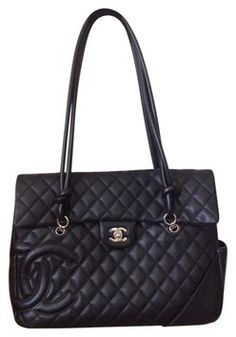 e06b6fb2c4fa Chanel Calfskin Cambon Flap Black Tote Bag $2,199 Black Leather Tote, Black  Tote Bag,. Tradesy