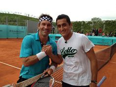 Pat Cash and Nicolas Almagro.  #tennis #tennisplayer #patcash #sport