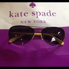 Kate spade Beryl sunglasses EUC no case Kate spade Beryl aviator sunglasses EUC no case kate spade Accessories Sunglasses