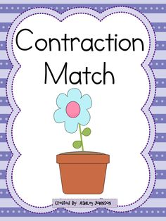 This contraction match is a great activity for whole or small groups and literacy centers.