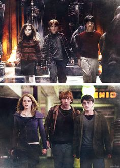 """"""" """"…There are more important things–friendship and bravery"""" - Hermione Granger """" Harry James Potter, Mundo Harry Potter, Draco Harry Potter, Harry Potter Tumblr, Harry Potter Pictures, Harry Potter Universal, Harry Potter Characters, Hermione Granger Funny, Ron And Hermione"""