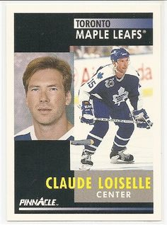 Claude Loiselle 1991-92 Pinnacle Toronto Maple Leafs Card 296 ** For more information, visit image link.