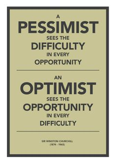 gotta be an optimist!!