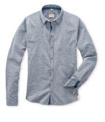 Hemd STEVE in fein dessiniertem Jacquard in Denimoptik in Baumwolle Denim Button Up, Button Up Shirts, Slim Fit, Shirt Dress, Mens Tops, Shopping, Dresses, Fashion, Cotton
