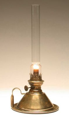 Victorian Oil Lamp~ This lamp, from the 1860s, is based on a revolutionary lamp designed in 1782 by Swiss inventor, Ami Argand.