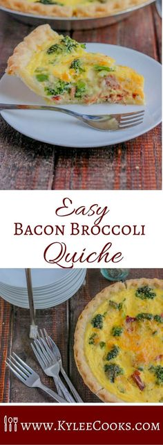 A deliciously easy, totally cheesy and filling quiche, made in about 30 minutes, this broccoli quiche is great for making ahead! via @kyleecooks
