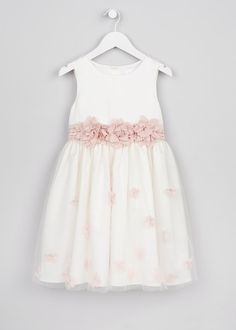 Girls Matalan Floral Pink Dress Flower Girl Occasion Summer Sparkle Belt 7 Years Available In Various Designs And Specifications For Your Selection Girls' Clothing (sizes 4 & Up)