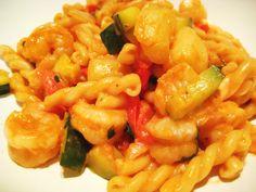 Spicy Shrimp & Scallop Vegetable Pasta - Jillian's Kitchen