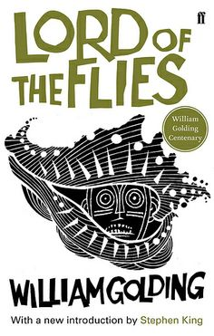 """""""Lord of the Flies"""" by William Golding - 2011 centenary edition, introduction by Stephen King, illustrated by Neil Gower  (Faber Books)"""