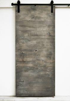 "Sliding Barn Door, Wood, Modern Slab, Silverwood, 36"" x 82"", Hardware Included…"