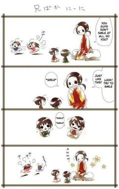 I wonder why this is China and his family Hetalia Japan Hong Kong Taiwan Korea