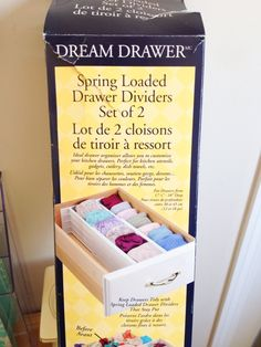 Love these Spring Loaded Drawer Dividers