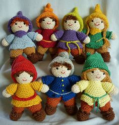 Crochet 7 dwarfs by Akinna Stisu
