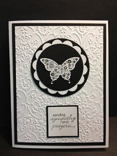 Papillion Butterfly Sympathy Card  Stampin' Up!  Rubber Stamping