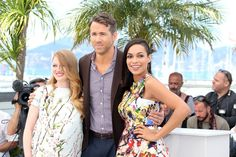 Pin for Later: All the Stars That Flocked to France For the Cannes Film Festival  Mireille Enos, Ryan Reynolds and Rosario Dawson got together for the The Captive photocall on Friday.