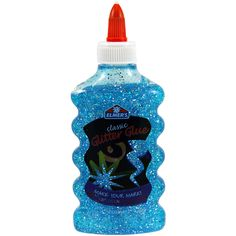 Elmers/X Acto-Elmers Glitter Glue Bottle. Ideal for paper, cloth, crafts and more! It is washable, does not run or drip, dries clear and gives a bold, glittery pop! This package contains one 6oz squee
