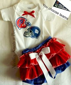 Girls House Divided 2pc Cheerleader Outfit, Football Outfit, NFL