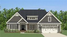 This lovely Craftsman style home with Ranch influences (House Plan #189-1081) has 2158 square feet of living space. The 1 story floor plan includes 3 bedrooms.