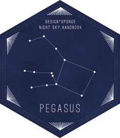 Pegasus (by Max Tielman for Design*Sponge) #pegasus #constellation