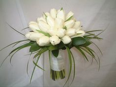 Tulip hand tied bouquet