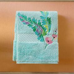 /& les serviettes de bain paon plumes sur gants à la main Personnalisé de luxe serviettes