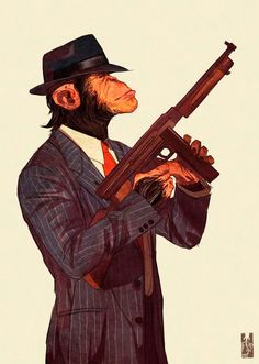 An anthro chimp in a suit, a mafioso. Similar to my idea for making Vito animate in a dance, I'd love to do a chimp. A reason for this is it's feet, those. It would be far more creative than just a pair of shoes. Character Art, Character Design, Monkey Art, Dope Art, Furry Art, Creative Art, Comic Art, Fantasy Art, Concept Art