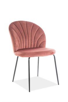 Scaunul Lola Velvet este un scaun tapitat cu catifea avand un design modern care iese in evidenta prin culorile sale. Scaun confortabil potrivit pentru interioarele moderne si clasice. #scaun #tapitat #catifea #roz #scaunroz #scauntapitat #pink #tufted #velvet #chair #pinkchair #diningroom #chairs Velvet, Chair, Furniture, Design, Home Decor, Decoration Home, Room Decor, Home Furnishings