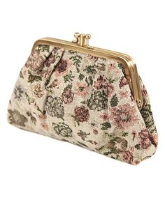 Metallic Floral Coin Purse - StyleSays