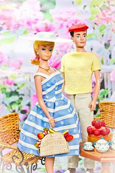 Oh that Ken! He can be quirky, but Barbie really wished he wouldn't wear the crockery when they were out and about!