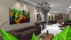 dicas de decoração para quartos pequenos Projetos 3D móveis decoração interiores