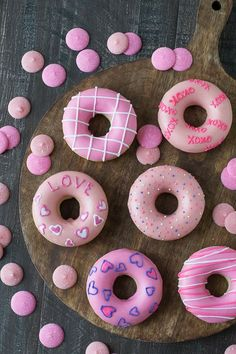 Treat your valentine to a batch of these cute homemade donuts! #ValentinesDay #VDay