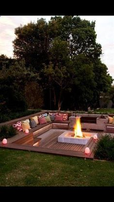 Beautiful fire pit!