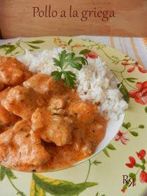 las recetillas de romo: POLLO A LA GRIEGA Pollo Guisado, Pollo Chicken, Ema, Curry, Food And Drink, Cooking, Ethnic Recipes, Guacamole, Food Ideas