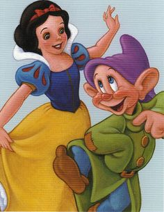 *SNOW WHITE & DOPEY ~ Snow White and the Seven Dwarfs, 1939