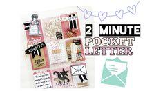 2 Minute Pocket Letter Tutorial