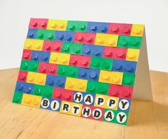How to DIY Happy Birthday Card Stationery: DIY 3D LEGO Card