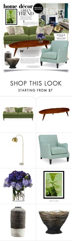 """""""Shades of Green 3146"""" by boxthoughts ❤ liked on Polyvore featuring interior, interiors, interior design, home, home decor, interior decorating, Robin Bruce, Lazy Susan, John-Richard and Moe's Home Collection"""