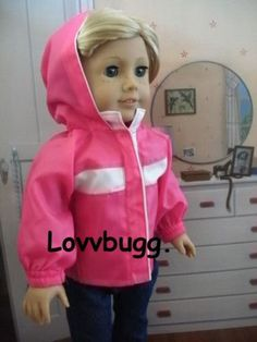 """Hot Pink Jacket Coat for 18"""" American Girl Doll Clothes BEST SELECTION! MOMBIZ!"""
