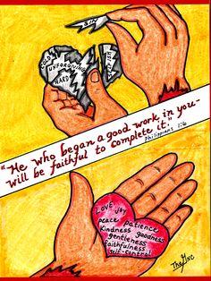 Whatever HE begins, HE completes. www.facebook.com/TheGoodNewsCartoon