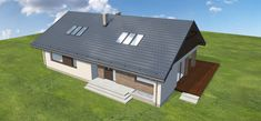Projekt domu Endo 3 187,85 m2 - koszt budowy - EXTRADOM Attic, Shed, Outdoor Structures, House, Loft Room, Home, Attic Rooms, Homes, Barns