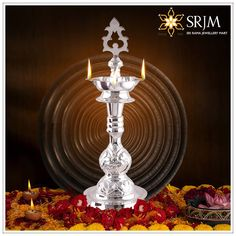 Diamond Jewelry, Silver Jewelry, Silver Rings, Silver Pooja Items, Silver Lamp, Puja Room, Gold Jewellery Design, Gold Accessories, Antique Items