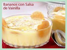 Un postre muy rico y muy fácil de preparar. Deserts, Pudding, Food, Vanilla Sauce, Sauces, Sweets, Beverage, Healthy Recipes, Cooking