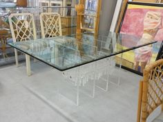 Glam Modern Lucite Dining Table Palm Beach Regency, Dining Table, Modern, Furniture, Home Decor, Dining Room Table, Trendy Tree, Decoration Home, Room Decor