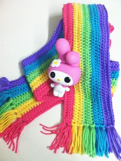 OH MY GOD It's A Rainbow Scarf by themodernprometheus on Etsy, $25.00 LOVE rainbows. have since forever.